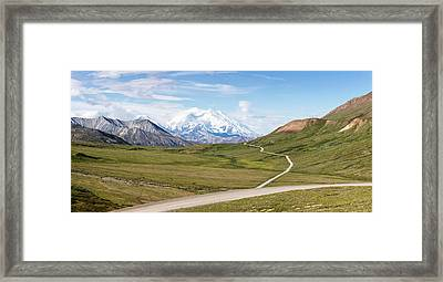 Mount Mckinley And Thorofare Pass Framed Print by Panoramic Images