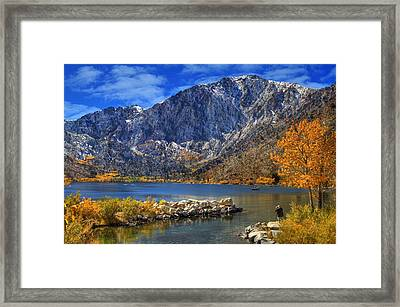 Mount Morrison Overlooking Convict Lake Framed Print by Donna Kennedy
