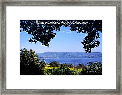 Mount Of The Beattitudes Framed Print by Thomas R Fletcher