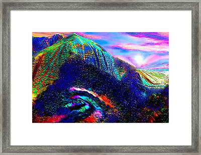 Mount Of Visionaries V.14 Enhanced Framed Print by Rebecca Phillips