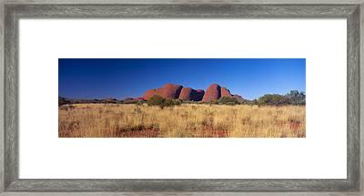 Mount Olga, Uluru-kata Tjuta National Framed Print by Panoramic Images