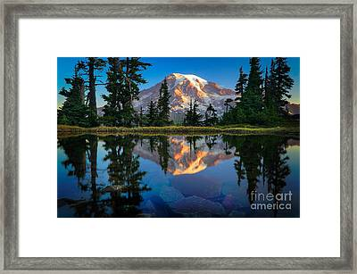 Mount Rainier From Tatoosh Range Framed Print by Inge Johnsson