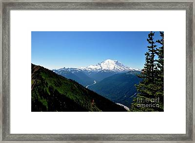 Mount Rainier Seen From Crystal Mountain Summit  4 Framed Print by Tanya  Searcy