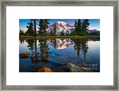 Mount Rainier Tarn Framed Print by Inge Johnsson