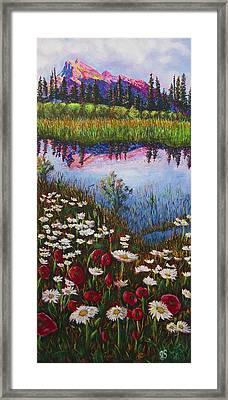 Mount Rundle At Sunset Banff Alberta Framed Print by Joyce Sherwin