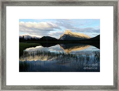 Mount Rundle Banff Framed Print by Bob Christopher
