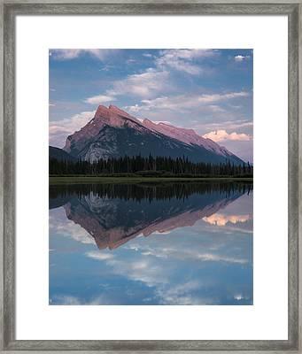 Mount Rundle - Banff National Park Framed Print by Cale Best
