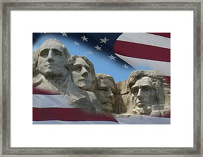 Mount Rushmore 1 Framed Print by Ernie Echols