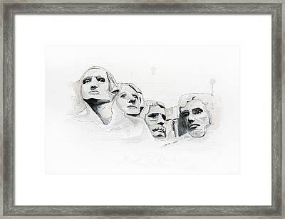 Mount Rushmore Framed Print by Astrid Rieger