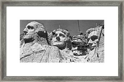 Mount Rushmore In South Dakota Framed Print by Underwood Archives