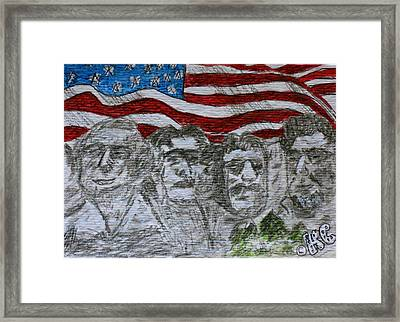 Mount Rushmore Framed Print by Kathy Marrs Chandler