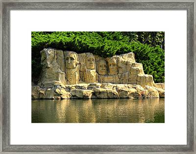 Mount Rushmore Framed Print by Ricky Barnard