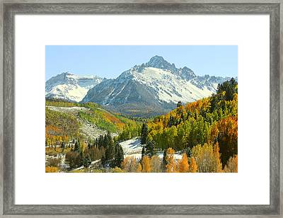 Mount Sneffels In Ridgway Colorado Framed Print by Brett Pfister