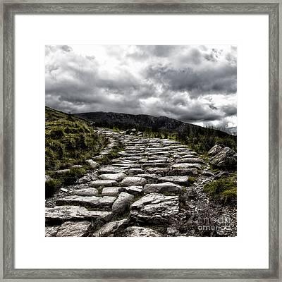 Mount Snowdon Path Framed Print by Jane Rix
