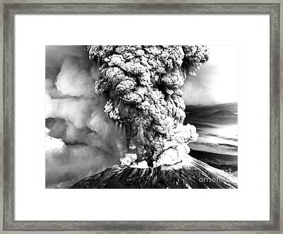 Mount St Helens Eruption Framed Print by Usgs