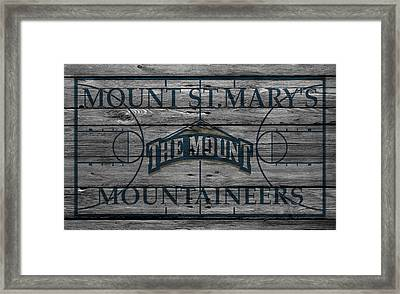 Mount St Marys Mountaineers Framed Print by Joe Hamilton