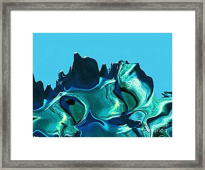Mount Strength-night Framed Print by David Winson