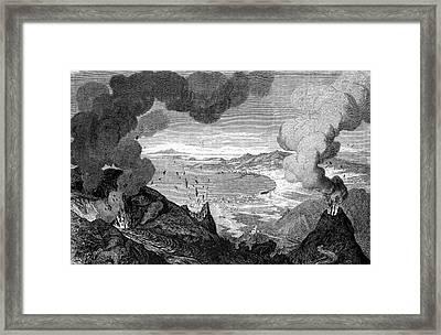 Mount Vesuvius Erupting Framed Print by Bildagentur-online/tschanz