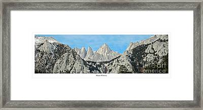 Mount Whitney Framed Print by Twenty Two North Photography