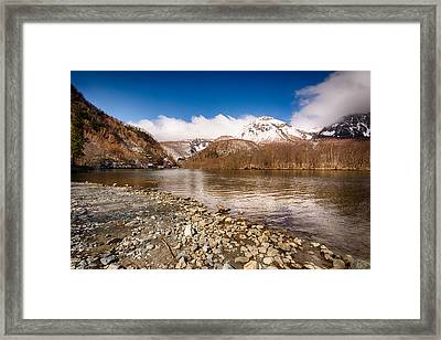 Mount Yakedake Framed Print by Jonah  Anderson