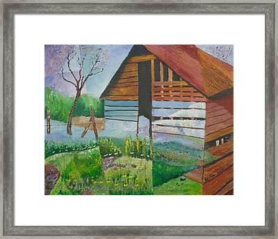 Mountain Barn Framed Print by William Killen