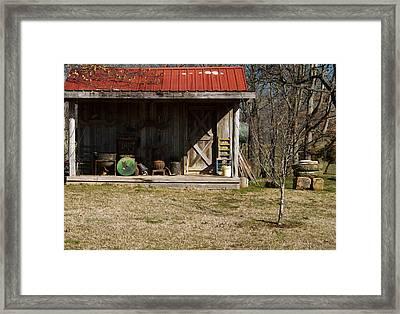 Mountain Cabin In Tennessee 3 Framed Print by Douglas Barnett