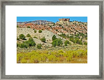 Mountain Desert Of Colorado Plateau Off Hole-in-the-rock Road In Grand Staircase Escalante Nmon-utah Framed Print by Ruth Hager
