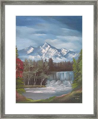 Mountain Dreams Framed Print by Dawn Nickel