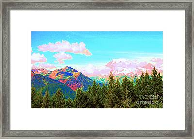 Mountain Fantasy Framed Print by Ann Johndro-Collins