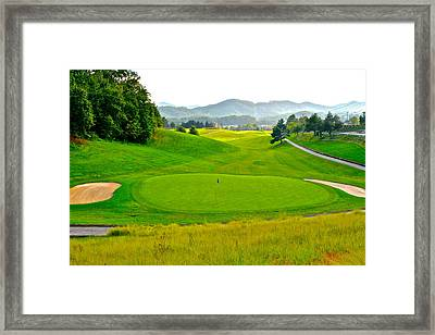 Mountain Golf Framed Print by Frozen in Time Fine Art Photography