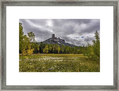 Mountain In The Meadow Framed Print by Jon Glaser