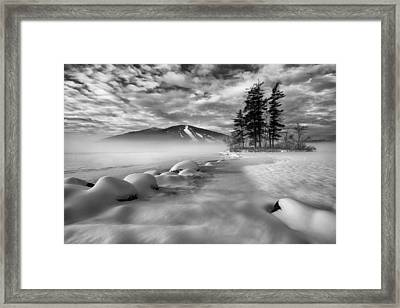 Mountain In The Mist Framed Print by Darylann Leonard Photography