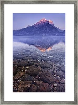 Mountain Lake Framed Print by Andrew Soundarajan