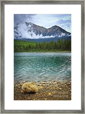 Mountain Lake Framed Print by Elena Elisseeva