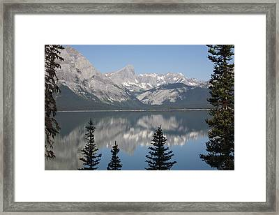 Mountain Lake Reflecting Mountain Range Framed Print by Michael Interisano