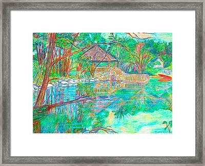 Mountain Lake Reflections Framed Print by Kendall Kessler