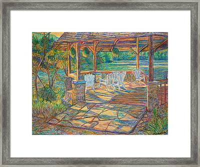 Mountain Lake Shadows Framed Print by Kendall Kessler