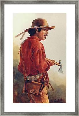 Mountain Man Framed Print by Randy Follis