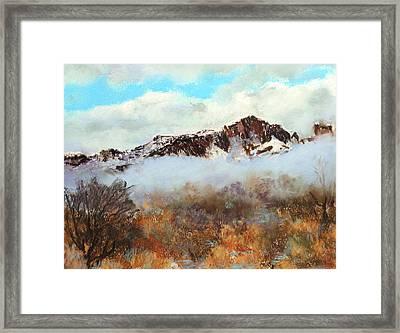 Mountain Mist Framed Print by M Diane Bonaparte