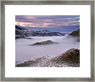 Mountain Moods Framed Print by Leland D Howard