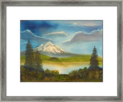 Mountain Overlook Framed Print by Joyce Krenson