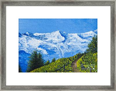 Mountain Path Framed Print by Svetlana Sewell