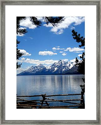 Mountain Reflection On Jenny Lake Framed Print by Dan Sproul