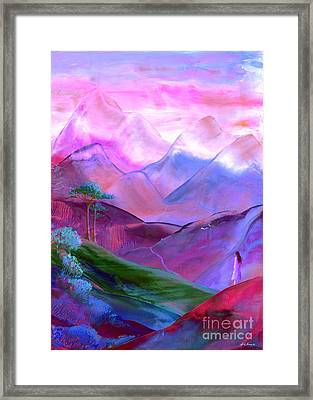 Mountain Reverence Framed Print by Jane Small
