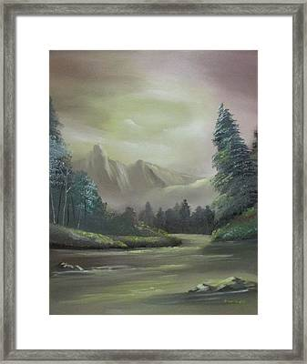Mountain River Framed Print by Dawn Nickel