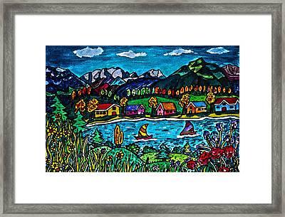 Mountain Sail Framed Print by Monica Engeler