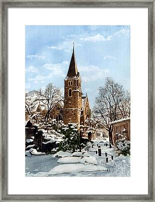 Mountain Sanctuary Framed Print by Barbara Jewell