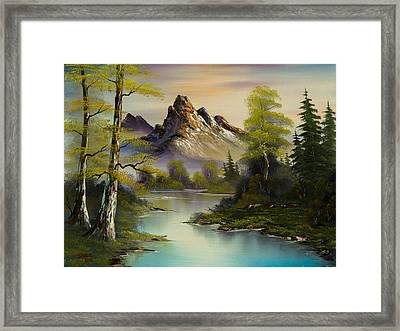 Mountain Evening Framed Print by C Steele