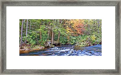 Framed Print featuring the photograph Mountain Stream In Autumn Pocono Mountains Pennsylvania by A Gurmankin