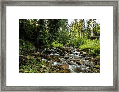Mountain Stream Framed Print by Jaroslaw Grudzinski
